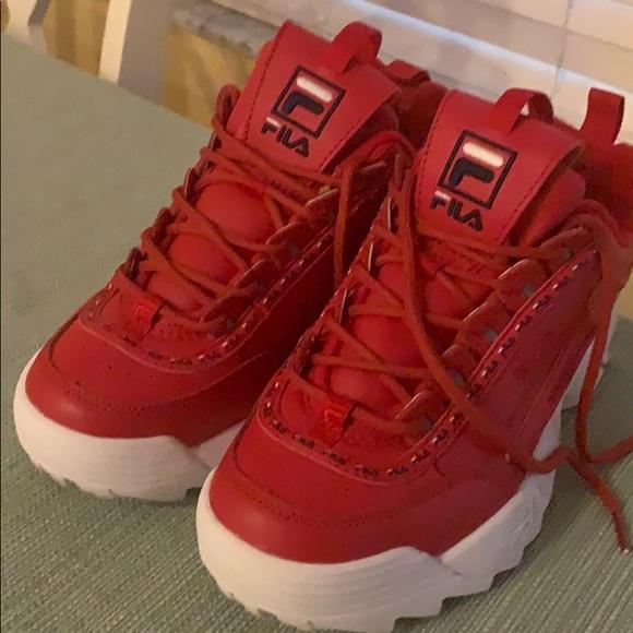 Fila Shoes | Red Fila Disruptor Ll